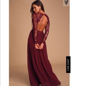 Lulu's Awaken My Love Burgundy Dress
